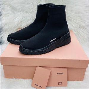 🐰🌸 MIU MIU Black Sock Sneaker 🌸🐰